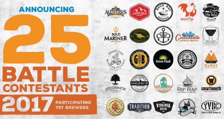 Participating craft breweries in the 2017 757 Battle of the Beers